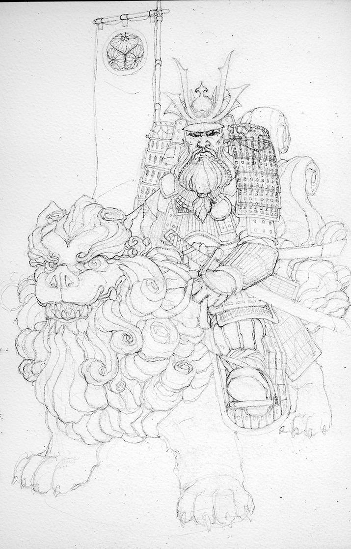 Tokugawa Dwarf-B/W by Xel-Lotath