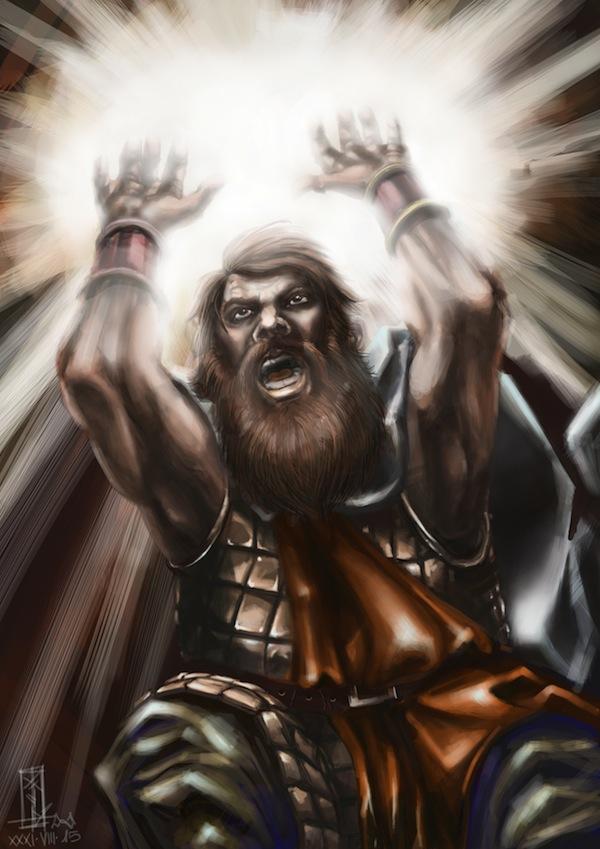 Krogan's Holy Card by Xel-Lotath