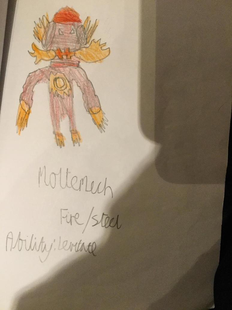Moltemech Fakemon by Iceber123