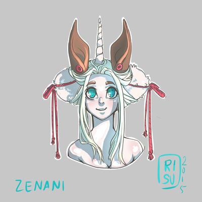 Zenani in moonlight by RisuPanda