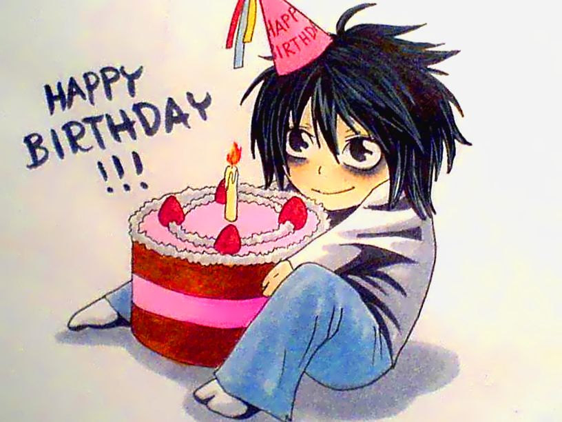 Anime Happy Birthday Happy birthday L by Sunao chan