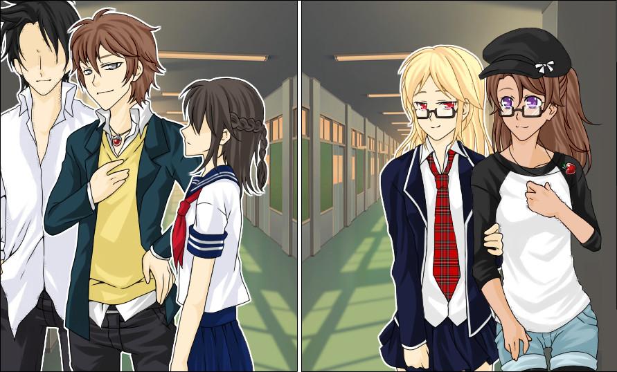 School Days - Rosie, Alex, and Casper by Tposykret3