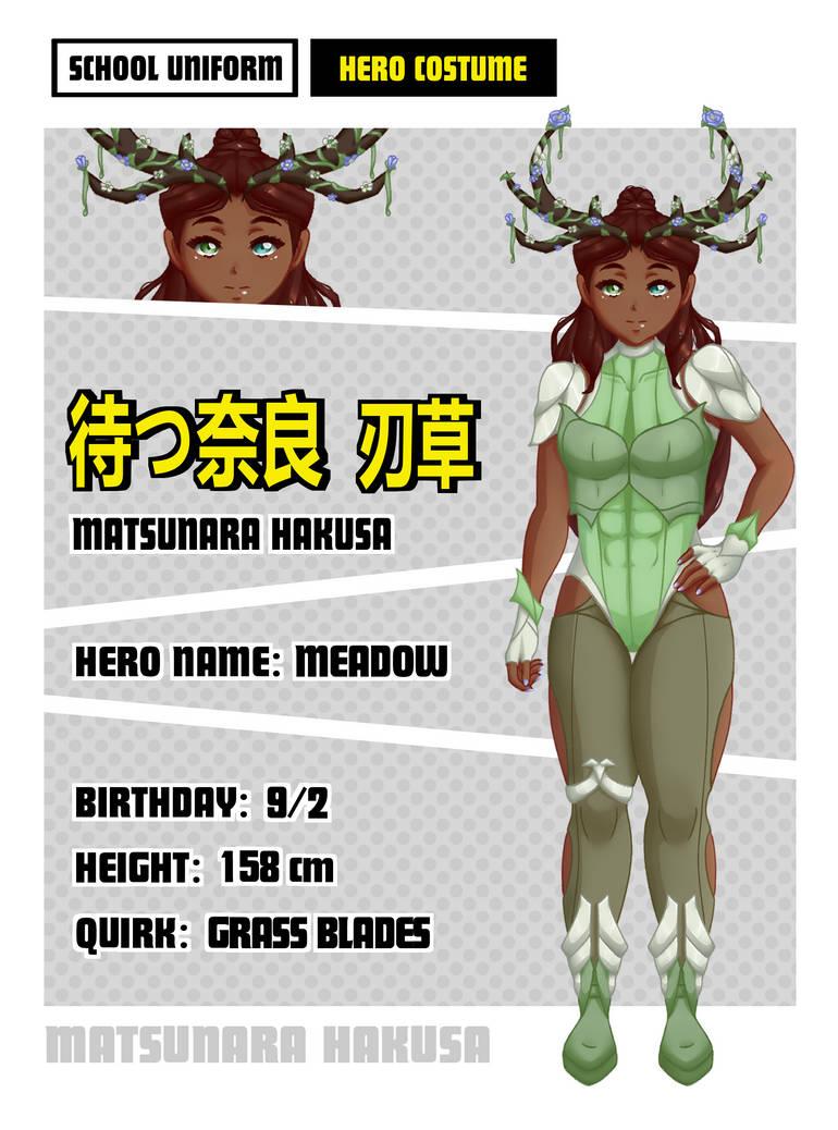 [BNHA OC] - Matsunara Hakusa