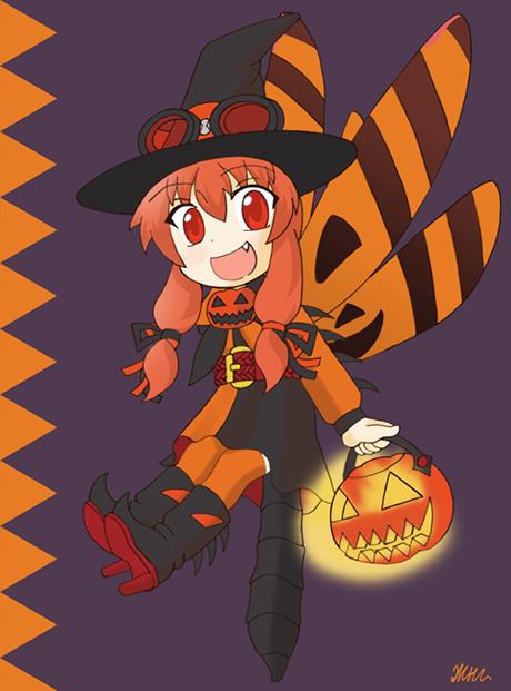 Halloween pennant by KryMizunagij