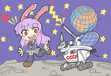 Lunokhod 2 with a Moon Rabbit