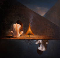Burning Tree by kainwhite1
