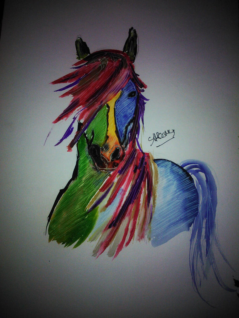 Rainbowhorse#2 by ShroomyART