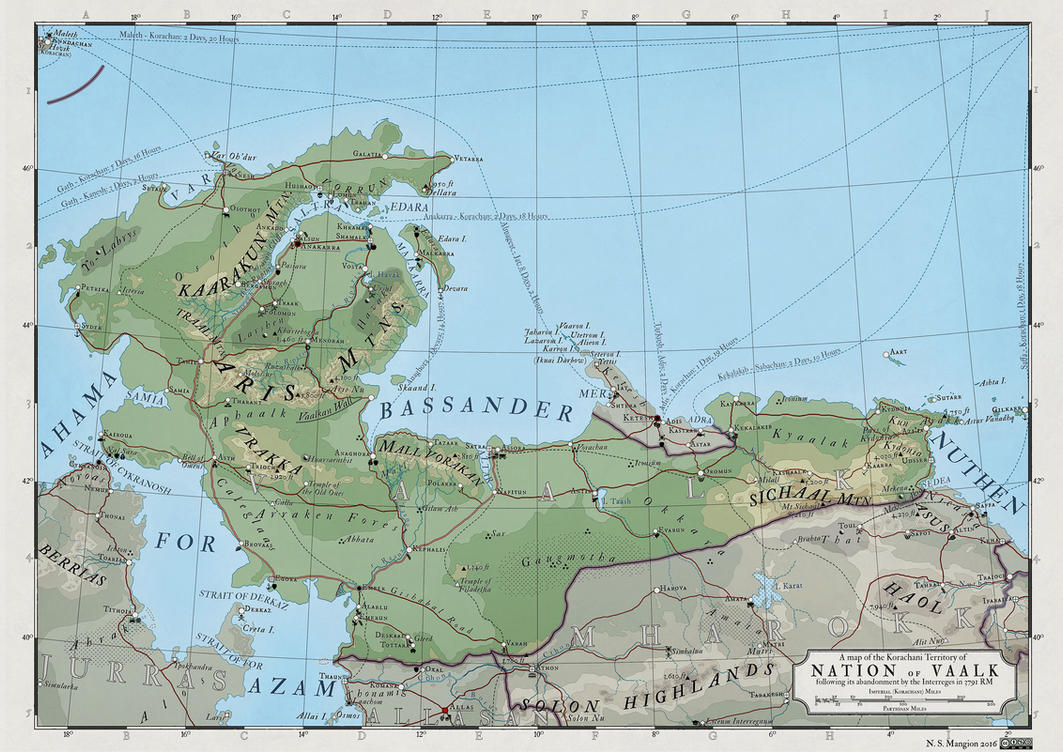 ATLAS ELYDEN - #10: a map of Vaalk by vorropohaiah