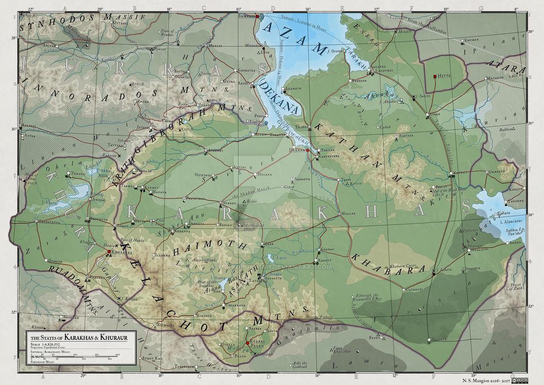 Atlas Elyden #19 - Karakhas and Khuraur by vorropohaiah