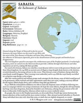 Sabaisa Fact Box
