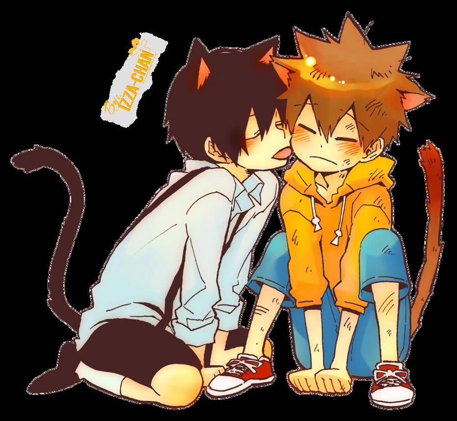 Anime Render: Hibari X Tsuna By Izza-chan On DeviantArt
