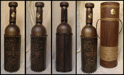 Bacchus Wine Bottle by morgenland
