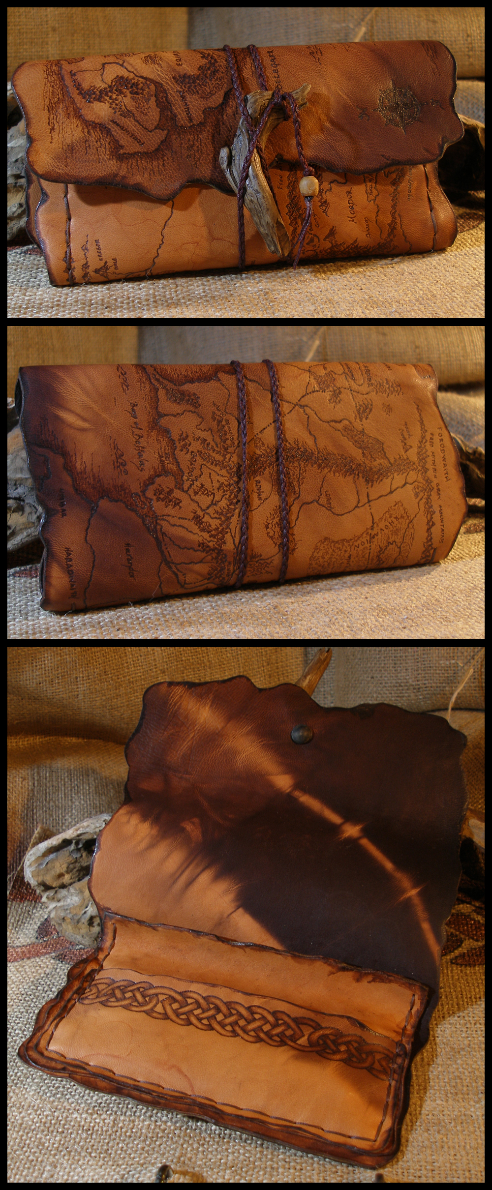 Middle Earth Map tobacco pouch by morgenland