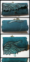 Fairy wing leather pouch