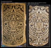 Aztec calendar pouch process by morgenland