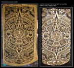 Aztec calendar pouch process