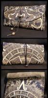 Aztec calendar tobacco pouch
