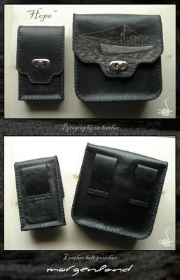'Hope' leather belt pouches