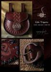 'Celtic Triquetra'  Waist pouch Leather belt