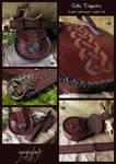 Celtic Triquetra  - waist pouch and belt