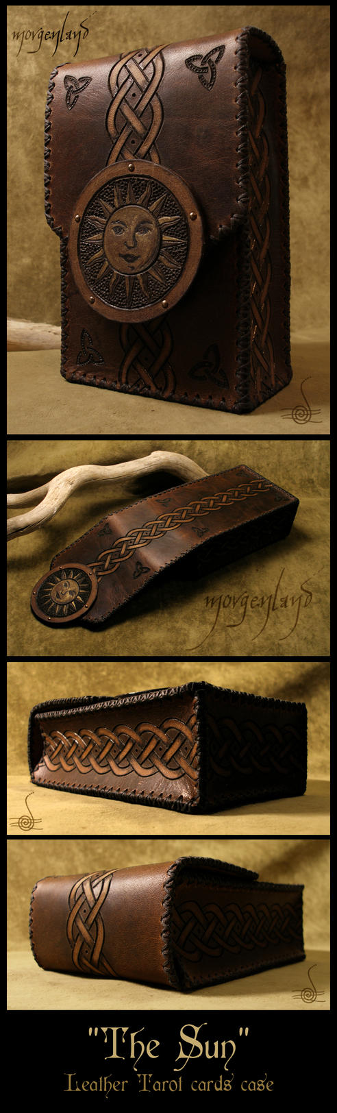 'The Sun' - Leather tarot cards case by morgenland