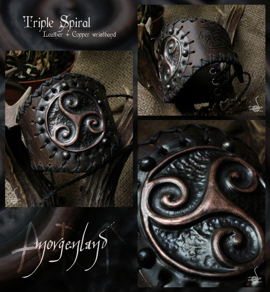 Triple Spiral Wristband by morgenland