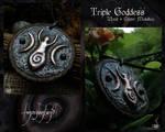 Triple Goddess medallion 2