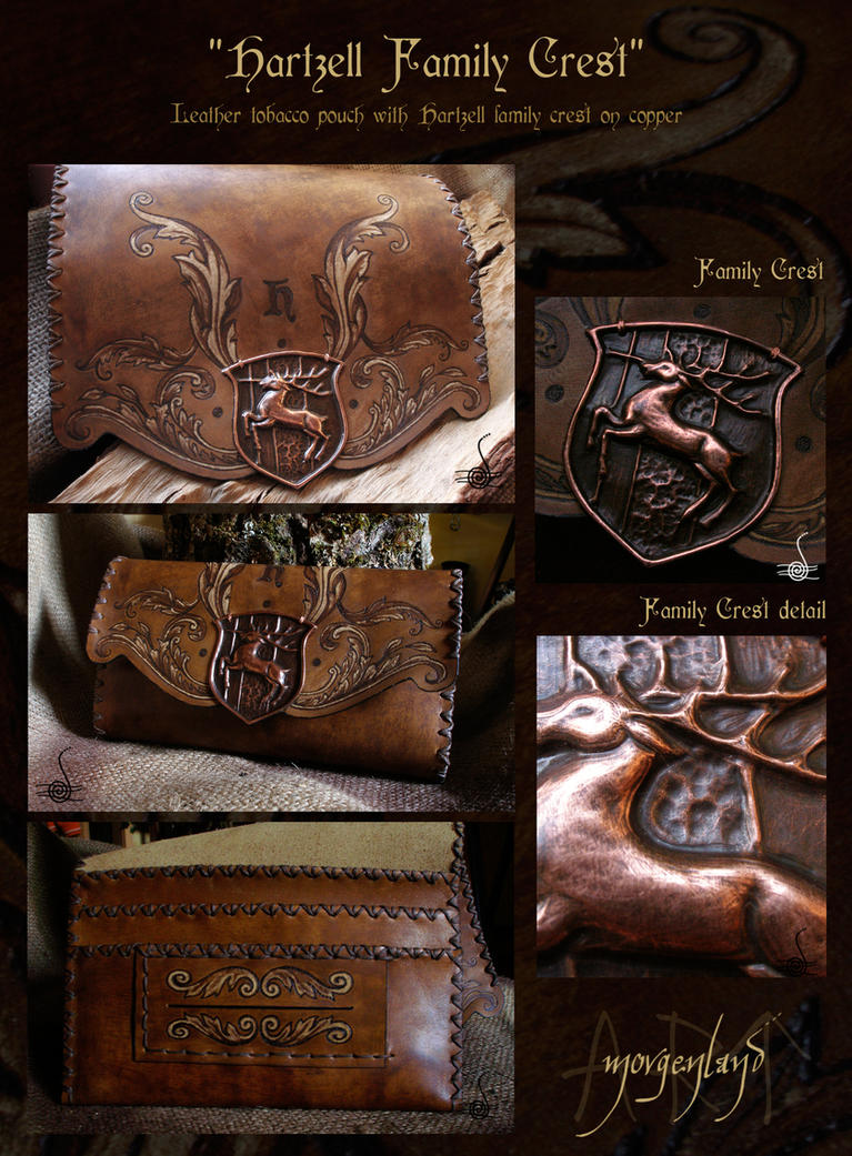 Hartzell Family crest - tobacco pouch by morgenland