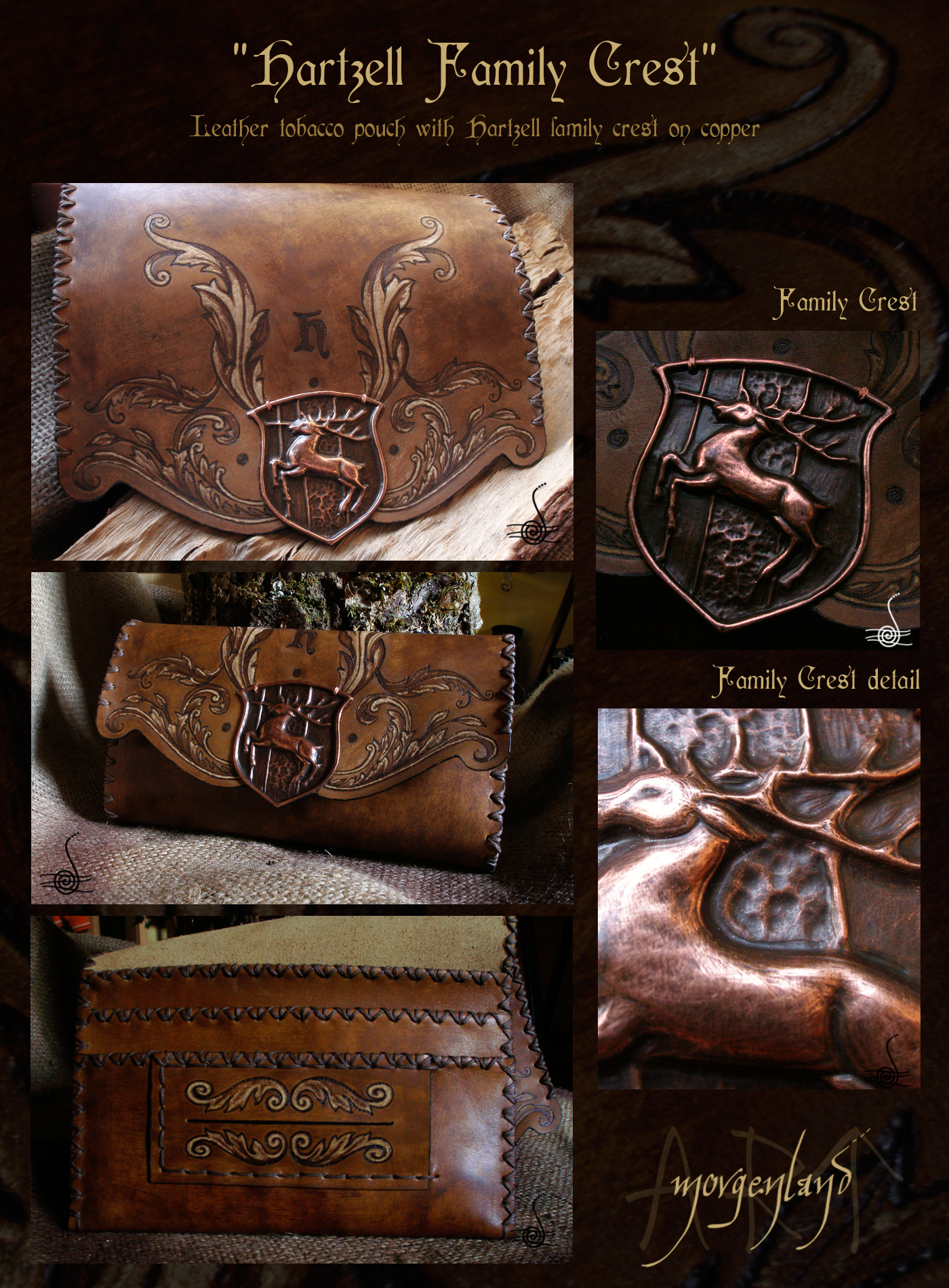 Hartzell Family Crest Tobacco Pouch By Morgenland On