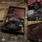 Triple Spiral + Ravens wristbands