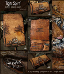 Tiger Spirit-leather tobacco pouch