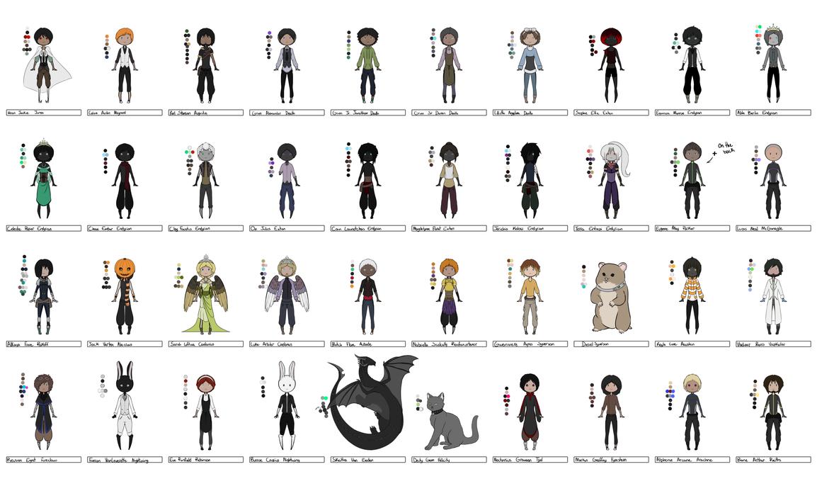 Chibi Character Set 3 by Pwneropwnage