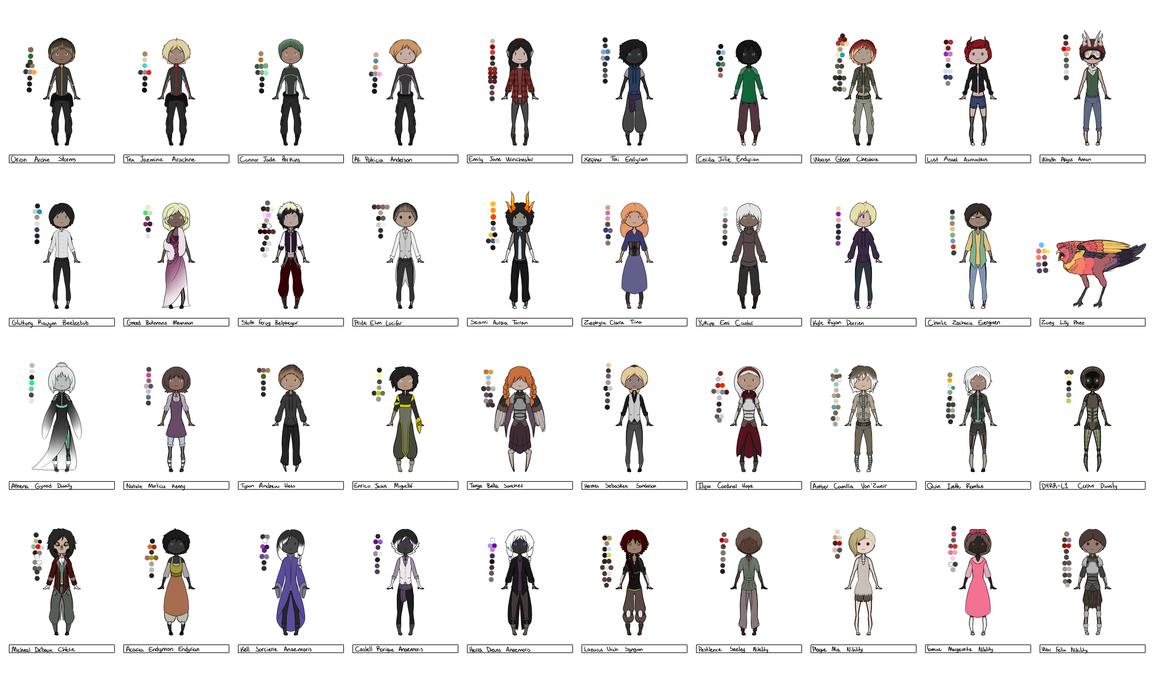 Chibi Character Set 4 by Pwneropwnage