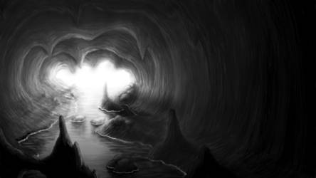 Coastal Cave by Zujin-Arts