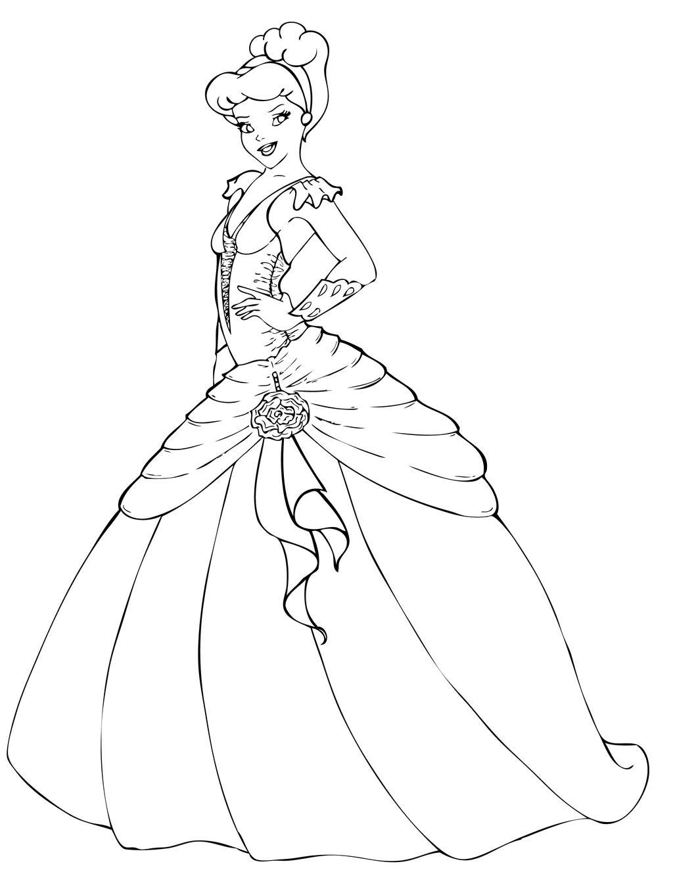 Cinderella Lineart By OriginStory On DeviantArt
