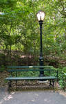 Bench and lamp stock