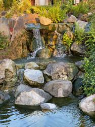 Mini waterfall stock