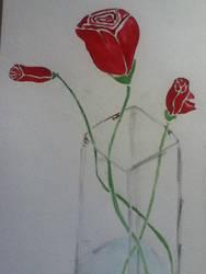 Free hand stencil roses by gingerhighlandergirl