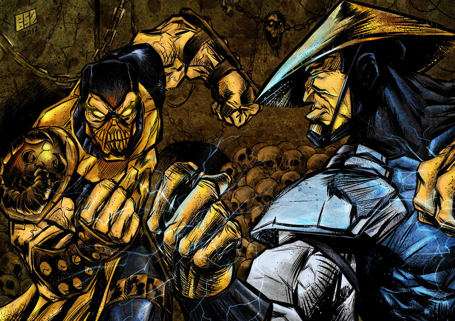 MORTAL KOMBAT - Scorpion VS Raiden by BartaSzabolcs