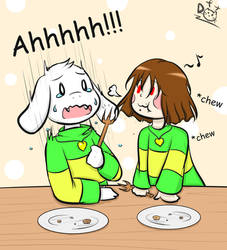 Reunion Easter Egg-Asriel and chara