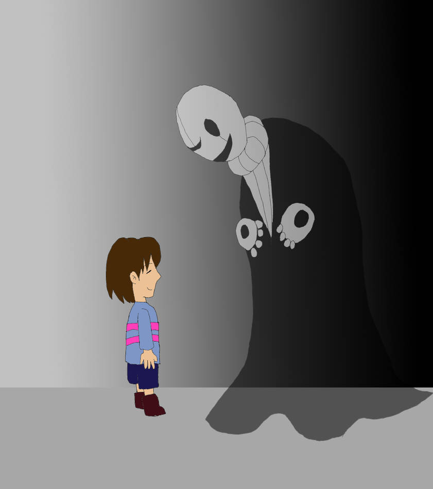 Void!Gaster meets Frisk by Pharaoh-Yami on DeviantArt