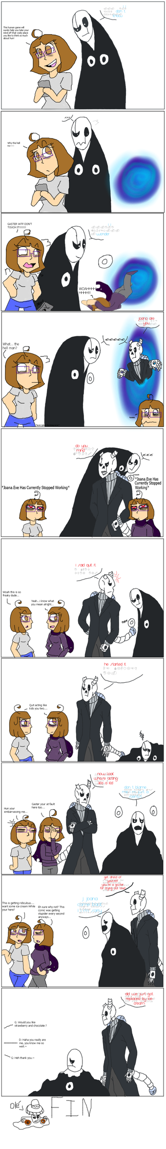 Undertale Goopster meets Dragster co-comic by Pharaoh-Yami