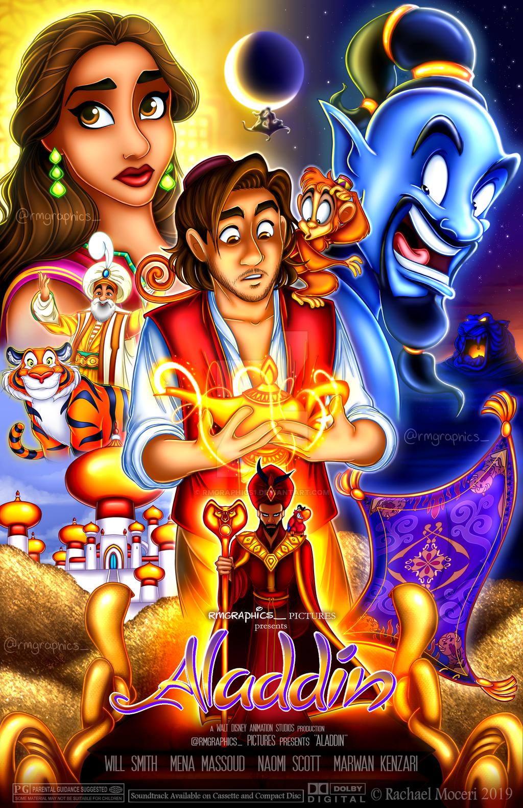 Aladdin 2019 demake poster by rmgraphics1 on deviantart - Aladdin 2019 poster ...