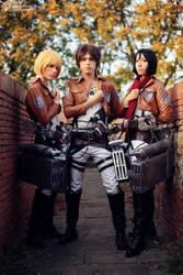 Eren,Mikasa And Armin Cosplay - Shingeki no Kyojin