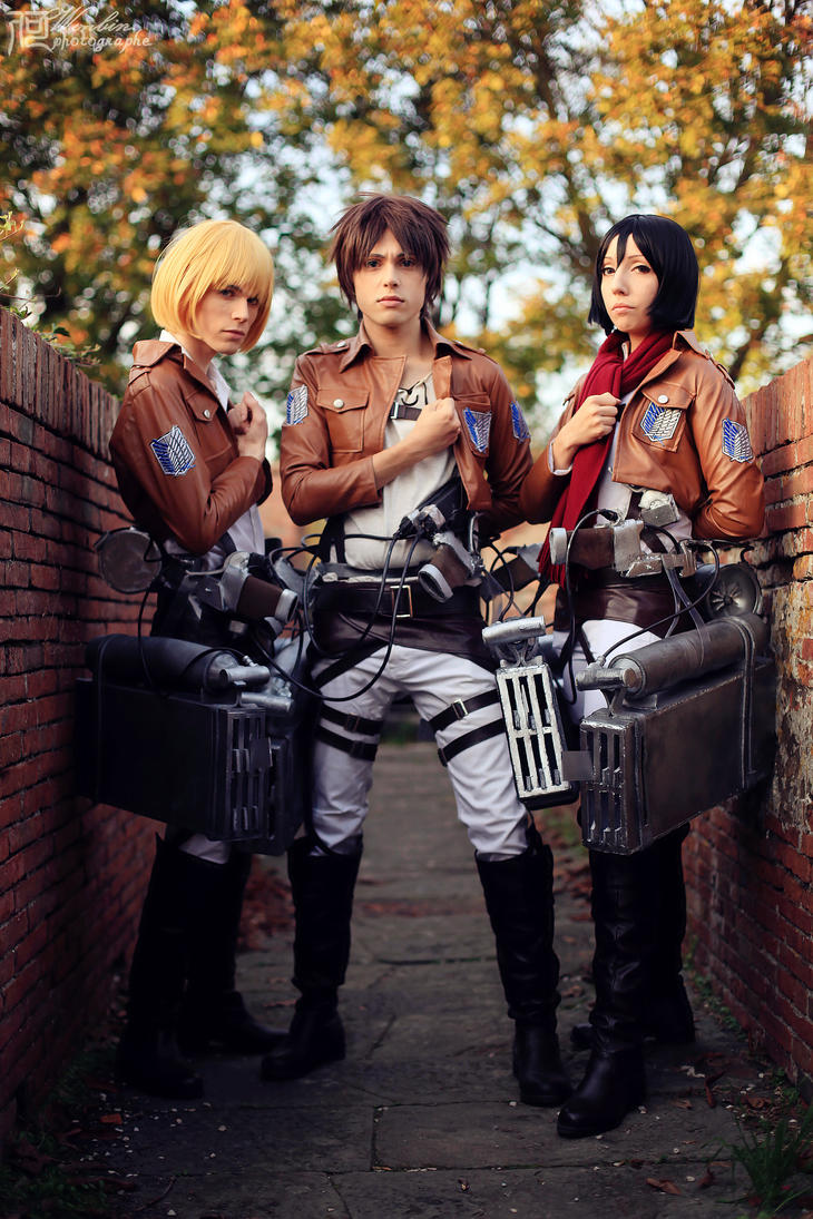 Eren,Mikasa And Armin Cosplay - Shingeki no Kyojin by DakunCosplay
