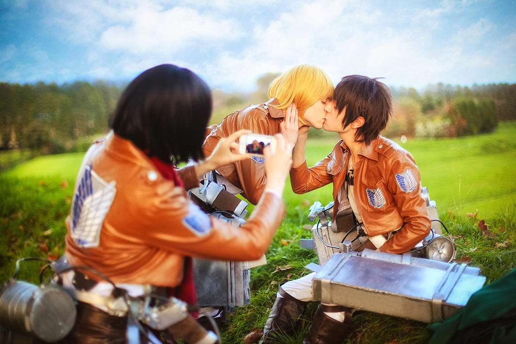 Mikasa Is A Fangirl Too - SnK Cosplay by DakunCosplay