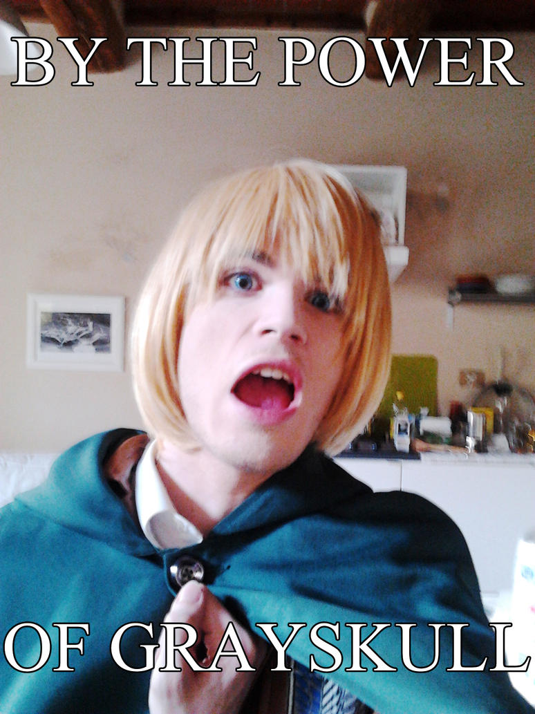 Armin Arlert Cosplay - HE-MAN'S POWER IN MY VEINS by DakunCosplay