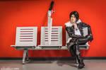 Squall Leonhart Cosplay - Waiting