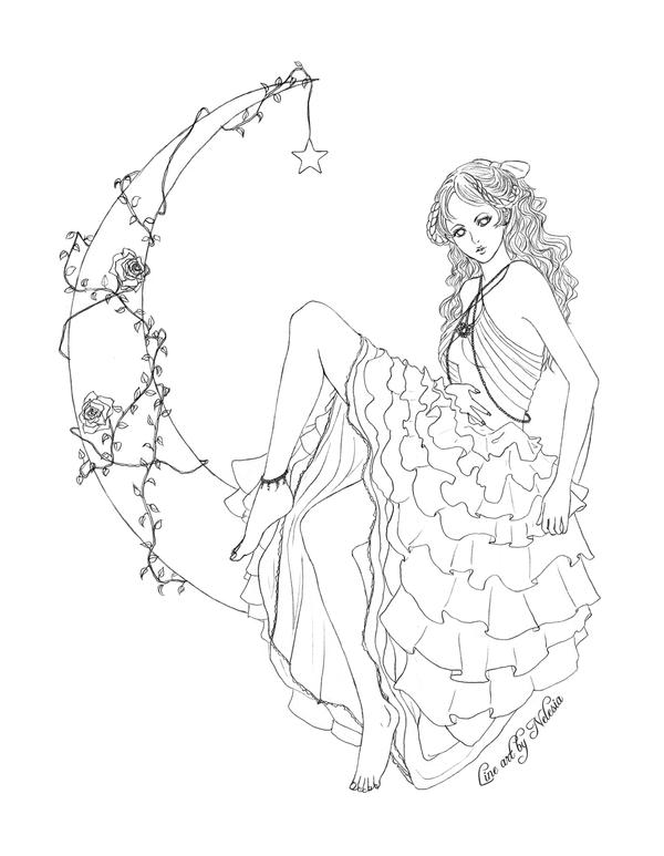 Line Art Of Rose : Rose line art by nelesia on deviantart