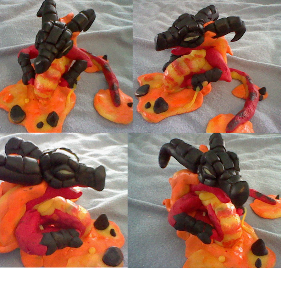 KICKASS Volvagia clay figure by Keirii-of-Celts